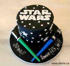 Gâteau Star Wars pour un anniversaire! A Star Wars cake for a birthday! - Star Wars Cake - Ideas of Star Wars Cake - Gâteau Star Wars pour un anniversaire! A Star Wars cake for a birthday! Star Wars Party, Star Wars Birthday Cake, Birthday Cakes, Bolo Star Wars, Star Wars Bb8, Aniversario Star Wars, Star Wars Cake Toppers, Fig Cake, Star Wars Models