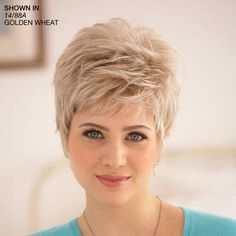 Shop our online store for short hair wigs for women. These natural hair and synthetic wigs fit mini petite, petite, average and large head sizes. Wig styles include straight, curly and wavy hair in your favorite pixie, bob or cropped hairstyle. Short Shag Haircuts, Sassy Haircuts, Short Haircut Styles, Short Grey Hair, Short Hair Wigs, Pixie Hairstyles, Short Hairstyles For Women, Hairstyle Short, Curly Hair Styles