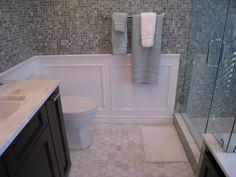 Marble Floor, Carrara Marble, Bathroom Closet, Master Bathroom, Shower Curb, Closet Remodel, Baseboards, Floor Design, Sink