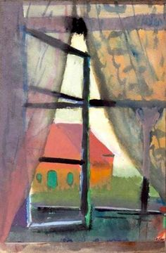"Paul Klee (Swiss, - ""Fensterausblick (Nordseeinsel)"" [View from a window (Island in the North Sea)], 1923 - Watercolour and gouache Magritte, Monet, Modern Art, Contemporary Art, Paul Klee Art, Ernst Ludwig Kirchner, Piet Mondrian, Art Moderne, Henri Matisse"