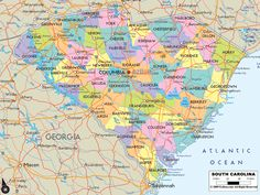 Map of the State of Georgia map includes cities towns and