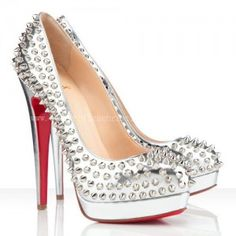 Christian Louboutin Alti 160mm Spikes Pumps Silver QOG14
