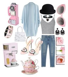 Pink ladies  by drewfedora on Polyvore featuring polyvore, fashion, style, Wrap, Glamorous, Zara, Sophia Webster, Toga, Kenneth Jay Lane, Crap, Crosley, Pieces, Royal Albert and Cuisinart