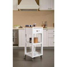 White Portable Kitchen Island ehemco kitchen island cart natural wood top with white base
