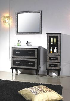 "Modern Bathroom Vanities Vaughan the furniture guild 36 "" vanity on the wall 