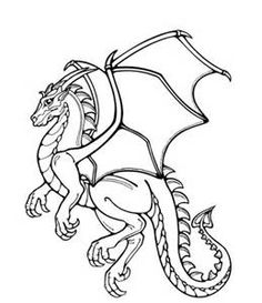 realistic dragon coloring pages bing images