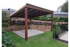Simple Pergola Design with Metal Roof