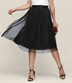 REISS - CRYSTAL TULLE SKIRT