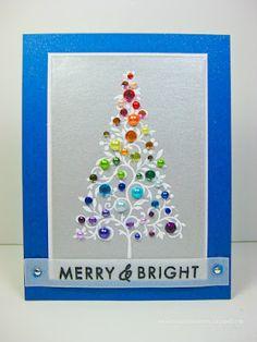 Very colorful Christmas tree