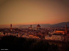 Florence after the sunset