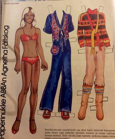 Finnish paper doll Agnetha/ABBA 70's
