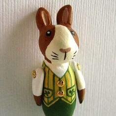 St Patrick's Day Animal Pin  Little Rabbit by murmurfremo on Etsy