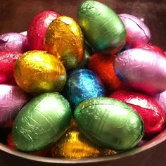 Gorgeous foil eggs for Easter - from COSTCO!