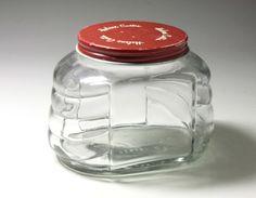 Vintage Helene Curtis Glass Jar  circa 1940's by BewitchingVintage