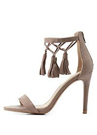 f56ad6cb3901 Quipid Two Piece Tassel Sandals Wrap Shoes