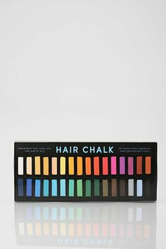 Mine ( and my 6 year old daughters) new favorite obsession- Hair Chalk. Works amazing on her Blonde hair and colors are bright and vivid on my dark brown hair. No need for me to bleach anything! <3