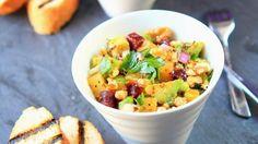 Rezept: Mangosalat mit Rote Bete und Avocado