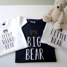I've just found Personalised Father, Son And Baby Bear T Shirts. Fun family 'BEAR' t-shirts for a proud dad and his little bear cubs.. £32.00
