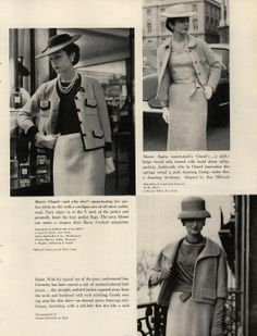 Mademoiselle Editorial Paris: The Day of the Suit, April 1959 @ MyFDB
