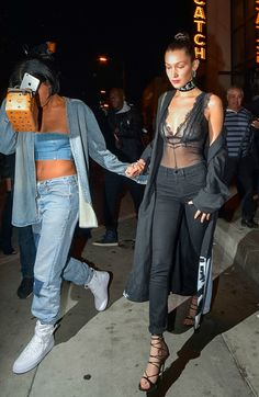 """""""Renell Medrano and Bella Hadid leaving Catch Restaurant in Los Angeles """""""