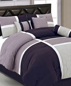 Take a look at the Plum Marcie Comforter Set on #zulily today!