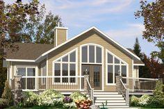 Contemporary Rear Elevation Plan #138-376 - Houseplans.com