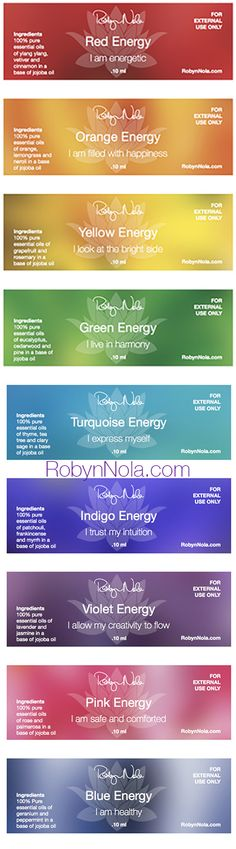 New! Color Therapy, Chakra Balancing Essential Oil Blends | Robyn Nola Gifts