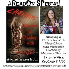 GOOGLE+ HANGOUT: Reading & Interview with Krystal Wade TONIGHT!!!  (August 2014)