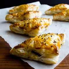Puff Pastry Pockets filled with feta cheese, parsley and other goodies!  This is one I definitely want to try! Barb