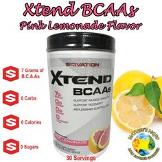 Xtend by Scivation BCAAs Pink Lemonade Flavor 30 Servings