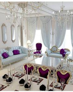 Bedroom Design Ideas – Create Your Own Private Sanctuary Luxury Living Room, Room Design, Curtains Living Room, Bedroom Design, Luxury Homes, Home Decor, House Interior, Parisian Living Room, Living Room Designs