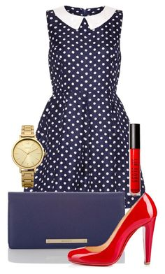 """Untitled #125"" by alicka128 ❤ liked on Polyvore featuring Lipsy, Brahmin, Christian Louboutin, Forever 21 and Oasis"