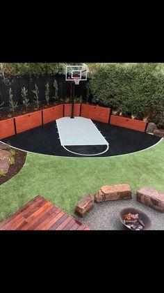 Backyard games 622411610989943292 - Corner Basketball Court Source by xybu
