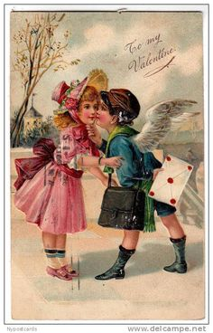 Public Domain Images – Vintage Postcards Valentine's Day Cards from the Early Valentine Images, Vintage Valentine Cards, Vintage Greeting Cards, Valentine Day Cards, Holiday Postcards, Vintage Postcards, Image Halloween, Victorian Valentines, Images Vintage