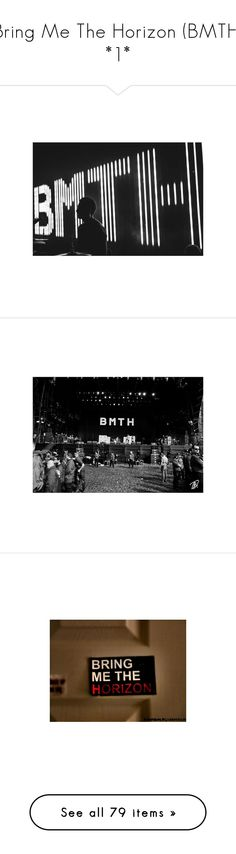 """""""Bring Me The Horizon (BMTH) *1*"""" by too-many-acronyms ❤ liked on Polyvore featuring pictures, - pictures, black and white, fillers, photos, music, random, bands, backgrounds and green"""