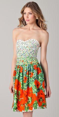 Impressionist-like floral dress