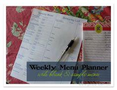 Weekly Menu Planning {Trim Healthy Tuesday}