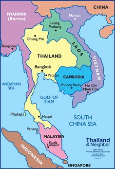 Before make plan to holidays to Bangkok Thailand better you have map of Bangkok . Detail Bangkok Map for Travelers Guide will help you . Laos Thailand, Thailand Travel Guide, Asia Travel, Laos Vietnam, Thailand Adventure, Pattaya Thailand, Countries Of Asia, Map Quiz, Travel Tips