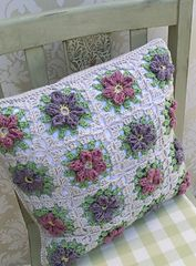 Ravelry: Floral Granny Square Pillow pattern by Ruth Maddock