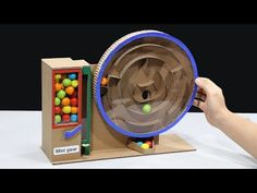 How to make gumball vending machine without dc motor. Everyone can learn to make this vending machine at home. Thank you for watchin. Plastic Book Covers, Youtube Without Ads, Hand Juicer, World Tv, The Late Late Show, Vending Machine, Trending Videos, Funny Clips, Gumball
