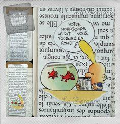 Poisson... Marque page. Recyclage par la Gorgone. : Marque-pages par la-gorgone