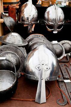 Replica viking helmets