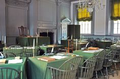 The Assembly Room in Philadelphia's Independence Hall, where the Second Continental Congress adopted the Declaration of Independence. Independence Hall, Declaration Of Independence, Us History, American History, History Class, Teaching History, Teaching Tools, Teaching Ideas, The Places Youll Go