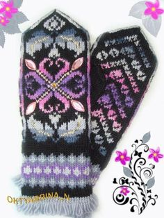 Knitted Mittens Pattern, Knitted Gloves, Fair Isle Knitting, Knitting Yarn, Baby Knitting, Knitting Charts, Knitting Patterns Free, Knit Or Crochet, Tejidos
