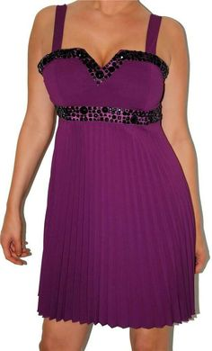 Mardi Gras Party Purple and Gold Juniors V-Neck Beach Cover-Up Dress