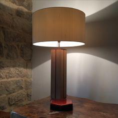 Lamp body made by Vladimir Bobić and Sanjiv Dhital from white American oak and mahagony scrap wood