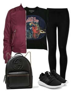 """""""Untitled #170"""" by gr20gk on Polyvore featuring Wolford, Balenciaga, Topshop, adidas Originals and Gucci"""