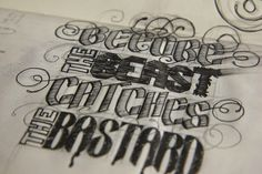 Sketchbook - I Draw Type by Matthew Crouch, via Behance