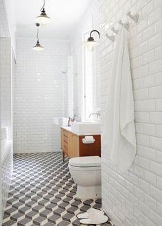 A 3D version of classic bathroom.