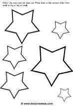 The object of the worksheet is <b>to cut</b> <b>out</b> the <b>stars</b> and paste them . Christmas Worksheets, Christmas Templates, Christmas Printables, Christmas Baubles, Kids Christmas, Christmas Crafts, Printable Star, Star Template, Theme Noel